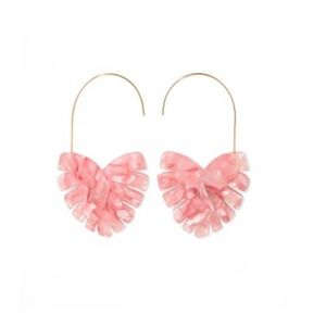 NWT Sugarfix Blush Leaf Statement Earrings